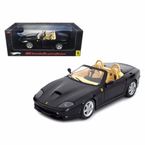 Hot wheels N2055 Ferrari 550 Barchetta Pininfarina Black Elite Edition 1-18 Diecast Model Car Perspective: front