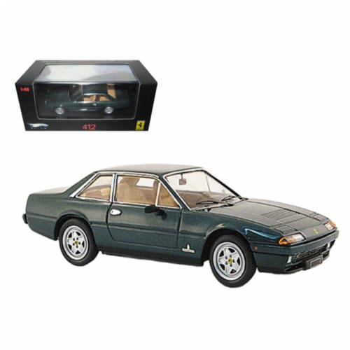 Ferrari 412 Green Limited Edition Elite 1/43 Diecast Model Car by Hotwheels Perspective: front