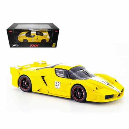 Ferrari Enzo FXX Yellow #22 Elite Limited Edition 1/43 Diecast Model Car by Hotwheels Perspective: front