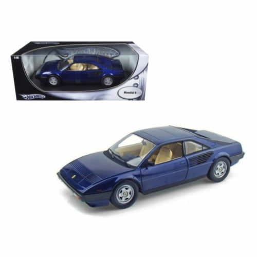 Hot wheels P9883 Ferrari Mondial 8 Blue 1-18 Diecast Model Car Perspective: front