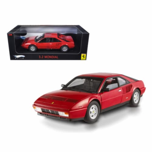 Hot wheels P9889 Ferrari 3.2 Mondial Red Elite Edition 1-18 Diecast Model Car Perspective: front