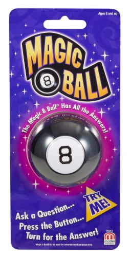 Mattel Mini Magic 8 Ball™ Toy Perspective: front