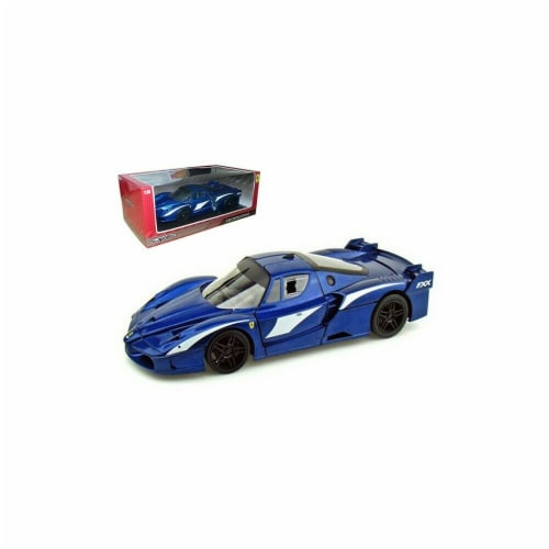 Hot wheels T6922 Ferrari FXX Evoluzione Blue 1-18 Diecast Car Model Perspective: front