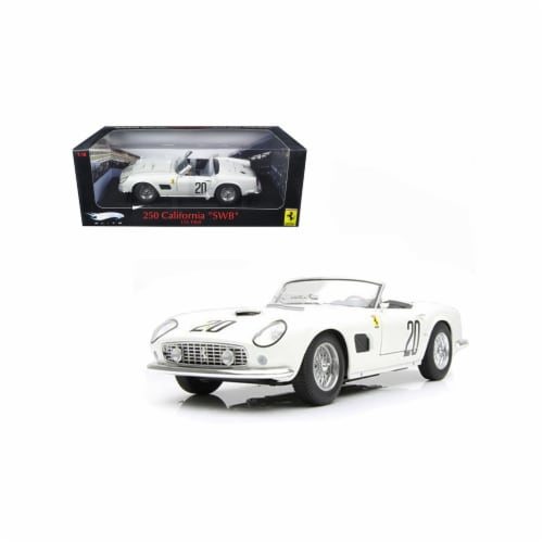 Hot wheels T6931 1 by 18 Scale Diecast Ferrari 250 California SWB Lemans 1969 White20 Elite E Perspective: front