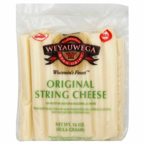 Weyauwega Original String Cheese Perspective: front