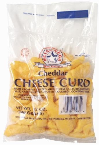 WeyauWega Cheddar Cheese Curd Perspective: front