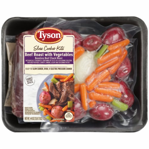 Tyson Beef Roast with Vegetables Slow Cooker Kits Perspective: front