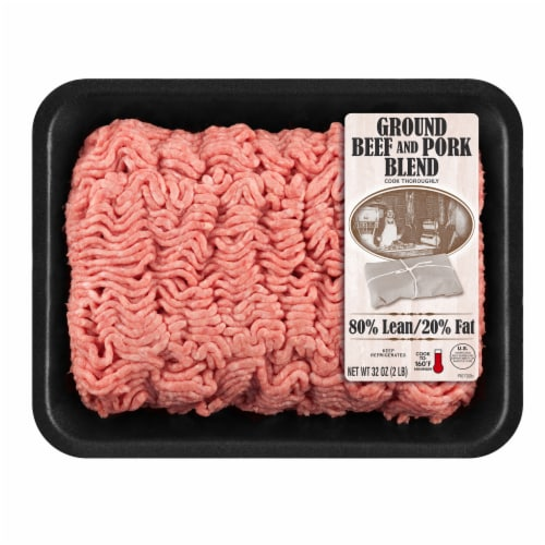 IBP Ground 80% Lean Pork & Beef Perspective: front