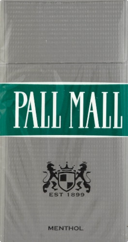 Pall Mall Classic Menthol Silver Filter 100s Cigarettes Perspective: front