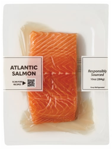 Pacific Seafood Atlantic Salmon Portions Perspective: front