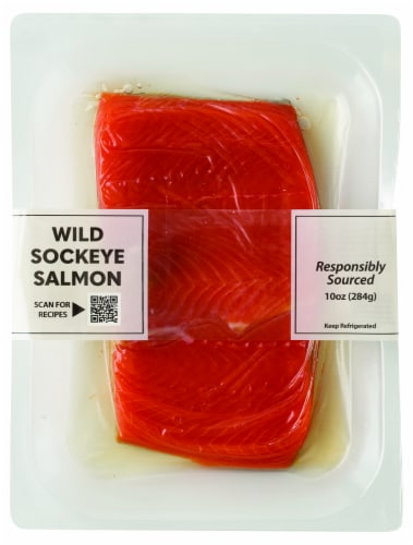 Pacific Seafood Sockeye Salmon Portions Perspective: front