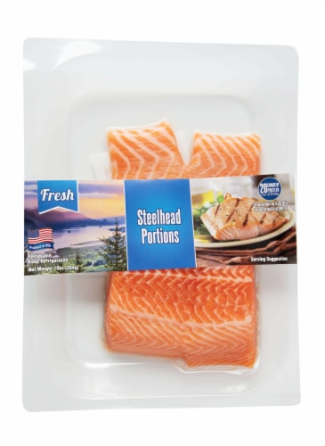 Pacific Seafood Steelhead Portions Perspective: front