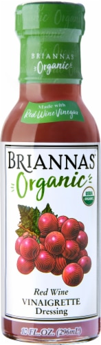 Briannas Organic Red Wine Vinaigrette Dressing Perspective: front