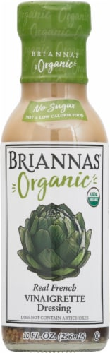 Brianna's Organic Real French Vinaigrette Dressing Perspective: front