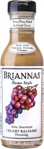 Brianna's New American Creamy Balsamic Dressing Perspective: front