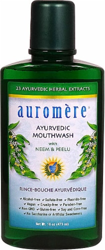 Auromere Ayurvedic Mouthwash Perspective: front