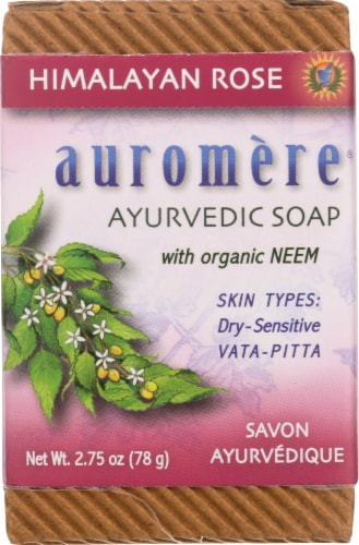 Auromere Ayurvedic Himalayan Rose Bar Soap Perspective: front