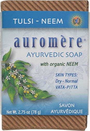 Auromere Tulsi-Neem Soap Perspective: front