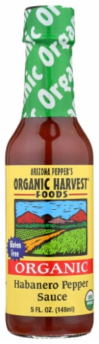 Organic Harvest Habanero Pepper Sauce Perspective: front