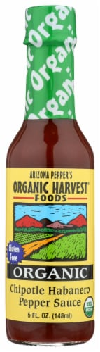 Arizona Pepper's Organic Harvest Foods Chipotle Habanero Pepper Sauce Perspective: front