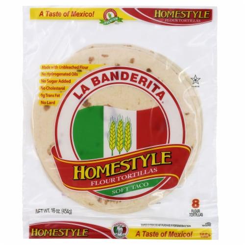 La Banderita Homestyle Flour Tortillas 8 Count Perspective: front