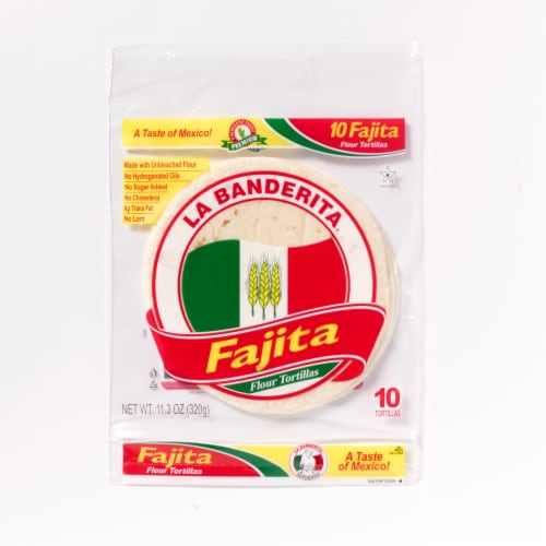 La Banderita Fajita Flour Tortillas Perspective: front