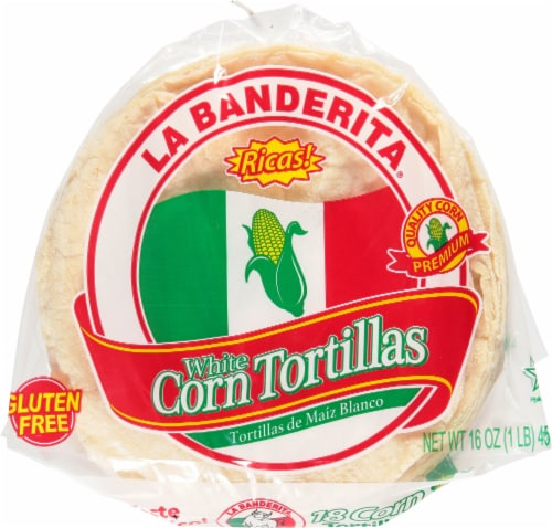 La Banderita White Corn Tortillas - 18 Count Perspective: front