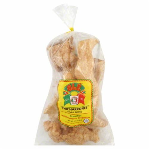 Ole Mexican Foods Chicharron Pork Skins Perspective: front