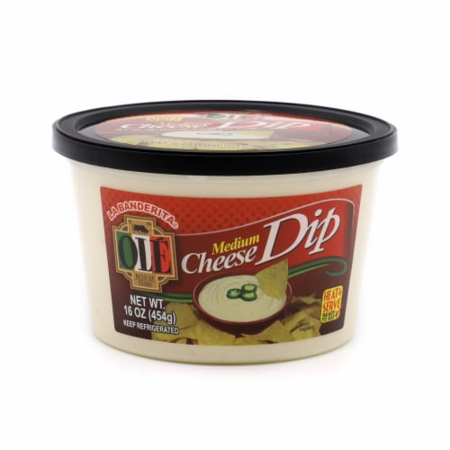 Ole Medium Hot Cheese Dip Perspective: front