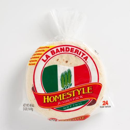 La Banderita Homestyle Soft Taco Tortillas Jumbo Pack Perspective: front