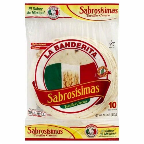 La Banderita 8 Inch Sabrosismas Tortillas Perspective: front