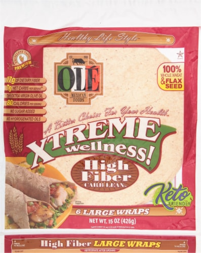 Ole Xtreme Wellness High Fiber Large Wraps Perspective: front