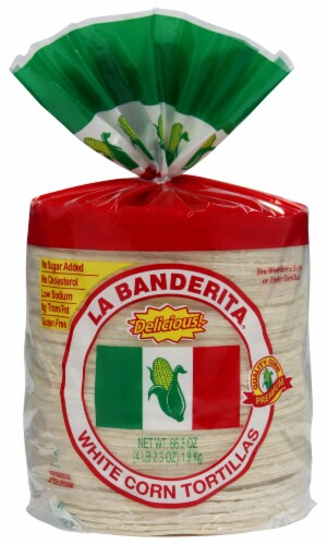 La Banderita White Corn Tortillas 80 Count Perspective: front