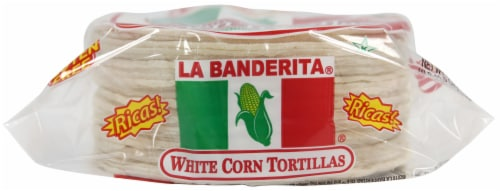La Banderita White Corn Tortillas 30 Count Perspective: front
