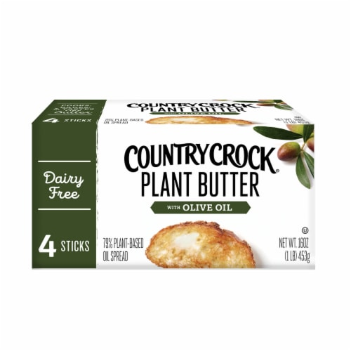 Country Crock Dairy Free Olive Oil Plant Butter Perspective: front