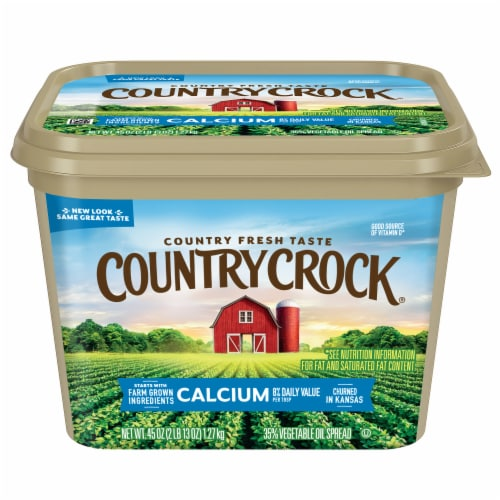 Country Crock Calcium Vegetable Oil Spread Perspective: front