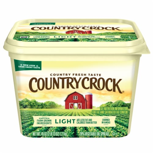 Country Crock Light Vegetable Oil Spread Perspective: front