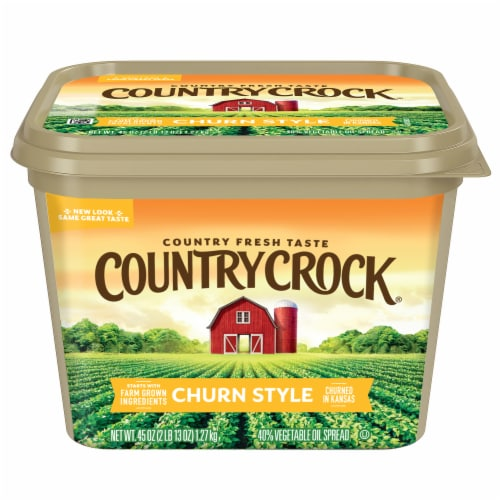 Country Crock Churn Style Vegetable Oil Spread Perspective: front