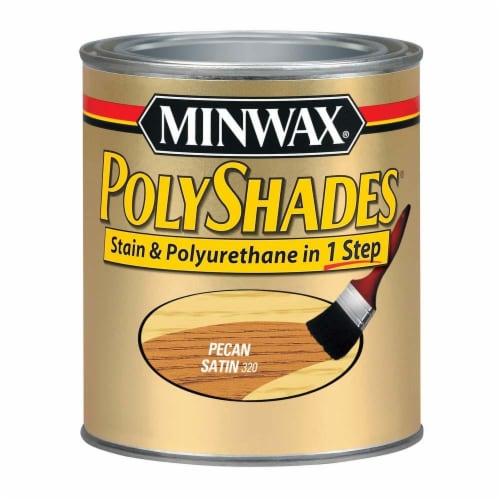 Minwax® Polyshades® Stain & Polyurethane - 320 Pecan Satin Perspective: front