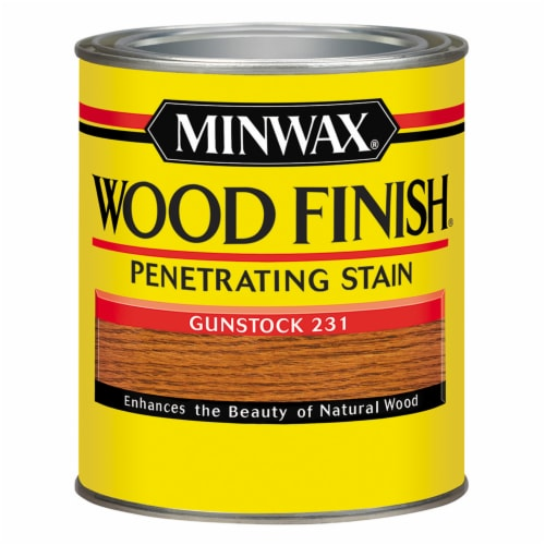 Minwax® Wood Finish® Gunstock Penetrating Stain Perspective: front