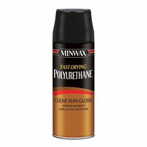 Minwax® Fast Drying Polyurethane Clear Semi Gloss Spray Perspective: front