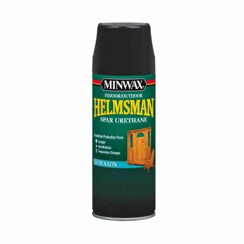 Minwax® Helmsman® Indoor/Outdoor Clear Satin Spar Urethane Aerosol Perspective: front