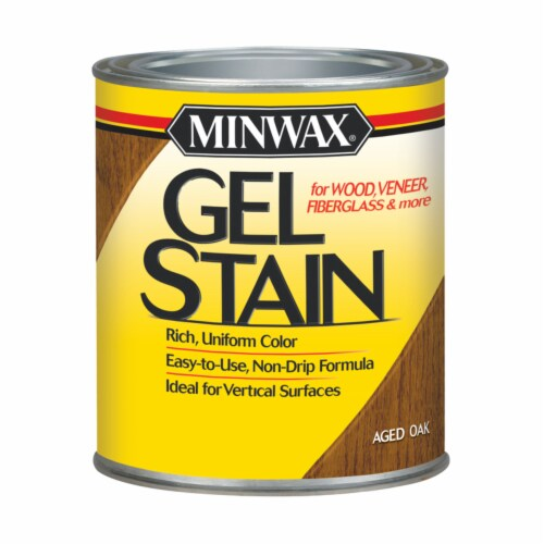 Minwax® Aged Oak Wood Finish Oil-Based Gel Stain Perspective: front