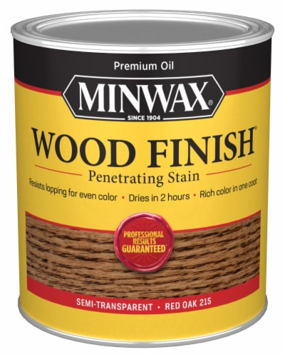 Minwax® Wood Finish Penetrating Stain - Red Oak Perspective: front