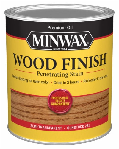Minwax® Gunstock 231 Penetrating Stain Wood Finish Perspective: front