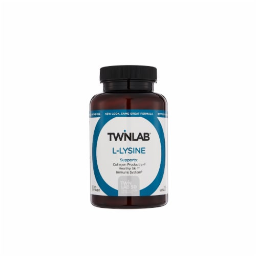 Twinlab L-Lysine Dietary Supplement Perspective: front