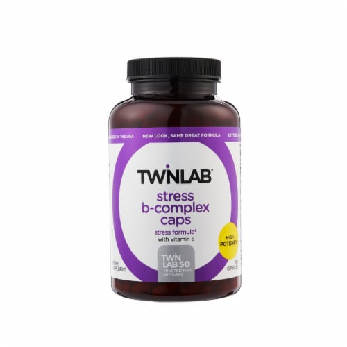 Twinlab Stress B-Complex Capsules Perspective: front