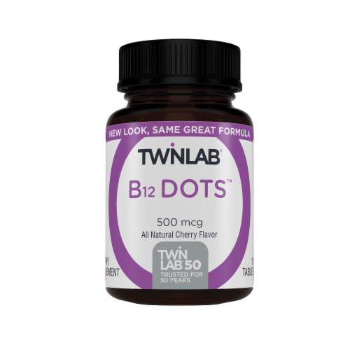 Twinlab B-12 Dots Tablets 500mg Perspective: front