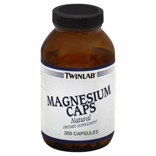 Twinlab Magnesium 400 Mg Caps Perspective: front