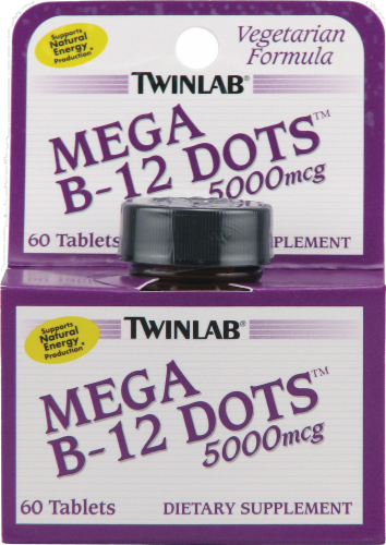 Twinlab Mega B-12 Dots Tablets Perspective: front